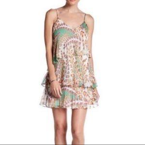 ADELYN RAE ✨NWOT Pleated Tiered Boho Printed Dress